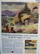 Stubaker trucks standout in war zones. Ad