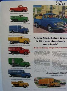 Studebaker savings on wheels. Ad