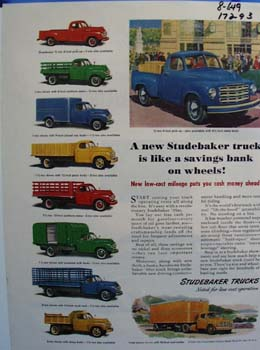 Studebaker savings on wheels. Ad