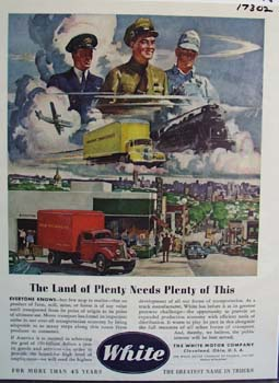 White the land of plenty needs plenty of trucks. Ad
