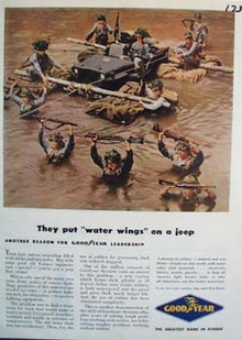 Jeep has water wings. Ad