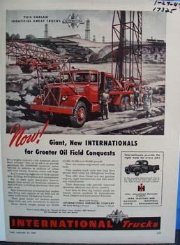 Internationals emblem identifies great trucks. Ad
