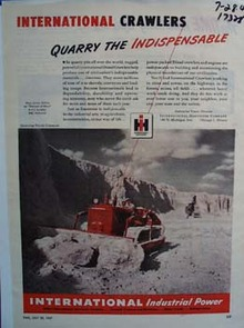 International crawlers quarry the indispensable. Ad