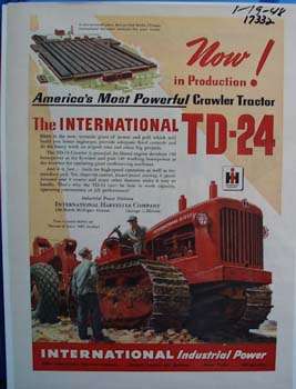 International Americas most powerful crawler tractor. Ad