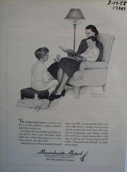 Massachusetts Mutual the richest inheritance. Ad