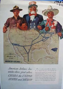 American Airlines unites three great allies. Ad