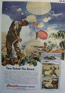 Douglas Aircraft Packed Attack Ad 1943