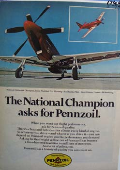 Champions asks for Pennzoil Ad 1979. Ad