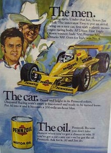 Pennzoil The men. The car. The oil Ad 1979. Ad