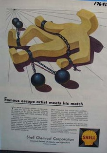 Shell famous escape artist meets his match Ad 1958