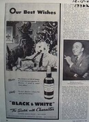 Black and White scotch our best wishes Ad 1947