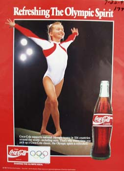 Coke refreshing the Olympic spirit Ad 1992.