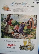 Miller high life enjoy it Ad 1948. Ad
