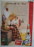 Miller high life traditionally the finest Ad 1950.