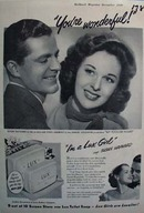 Susan Haywar is a Lux girl Ad 1949. Ad