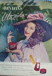 Revlons ultraviolet Ad 1947.