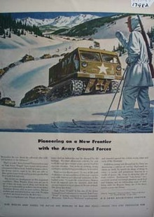 Army Recruiting Ad Pioneering New Frontier Ad 1947