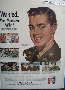 U.S.Army Recruiting Men Like Mike Ad 1950