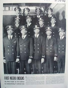 Navy Commissions First Negro Ensigns Picture 1944