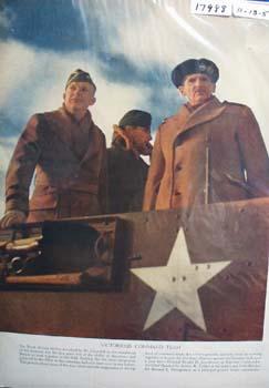 Eisenhower, Tedder & Montgomery Command Team Picture 1950
