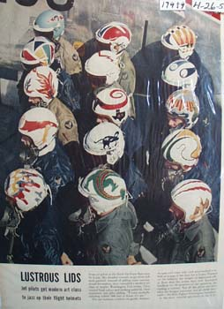 85th Fighter Interceptor Squadron Helmets 1954