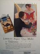 Liberty Paper & Camel Cigarette Ad 1928