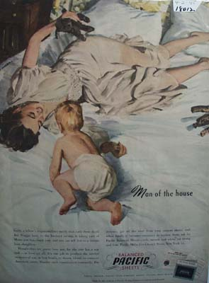 Pacific Sheets Man of House Ad 1945