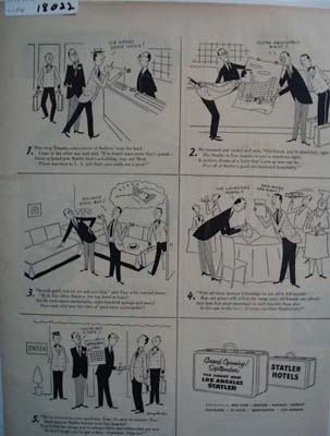 Statler Hotels & Traveling Tommy Ad 1952