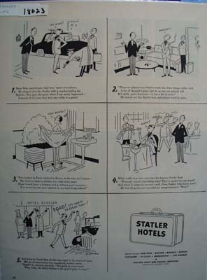 Statler Hotels & Blase Bob Ad 1953
