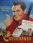 Glenn Ford & Chesterfield Ad 1949