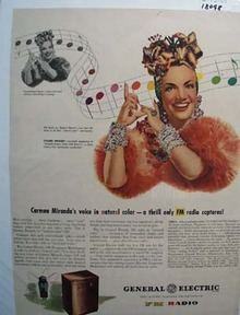 Carmen Miranda & General Electric Ad 1945