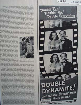Groucho Marx & Jane Russell Movie Ad 1951