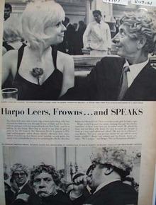 Harpo Marx & Marianne Meldau Article 1961