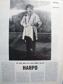 Harpo Marx In Overcoat Silent Genius Article 1964