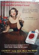 Lilli Palmer & Lucky Strike Ad 1950