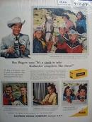 Roy Rogers & Kodak Ad 1959