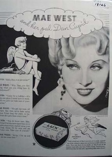 Mae West & Lux Soap Ad 1934