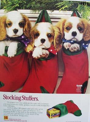 Kodak stocking stuffers Ad 1989