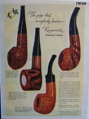 Kaywoodie the pipe everybody knows Ad 1945.
