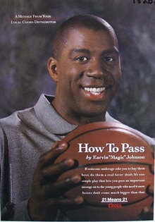 Coors Magic Johnson how to pass Ad.