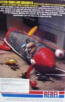 Rebel lures better than live crickets Ad 1980.