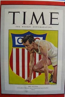 Time 1948 magazine cover of Mel Patton.
