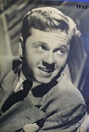 Black and white signed photo of Mickey Rooney