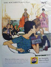 Pepsi the sociable people's cola Ad 1959