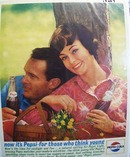 Pepsi think young Ad 1963.