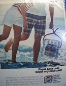 Pepsi cold is beats any cola cold Ad 1966.