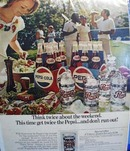 Pepsi think twice this weekend Ad 1971.