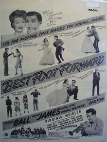 Black and white 1943 Ad of Best Foot