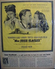Black and white 1946 ad of Miss Susie Slagle's