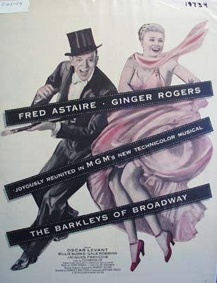 Color 1949 ad of The Barkleys of Broadway starring